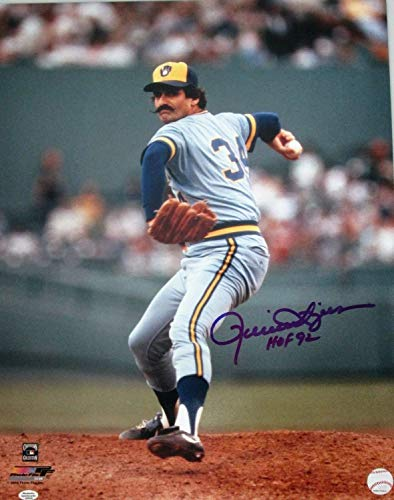 Brewers Rollie Fingers Autographed Signed 16x20 Auto Photo #1 Auto HOF 92 Cy Mvp 1981 - Certified Signature