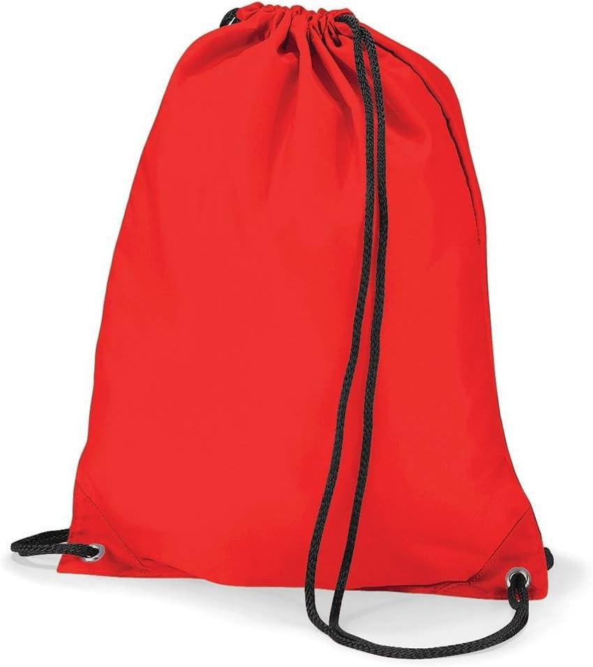 Black Medium BagBase Unisexs BG005BLAC Budget Gymsac Bag
