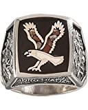 Silver Legends Men's Flying Eagle Multi Color Ring Multi 8