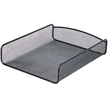 Safco Products  3272BL Onyx Mesh Desktop Organizer with Single Tray, Black