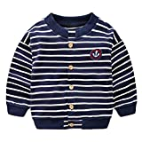 Product review for SPRMAG Little Boy Stripe Knit Sweater Cardigan Baby Long Sleeve Coat