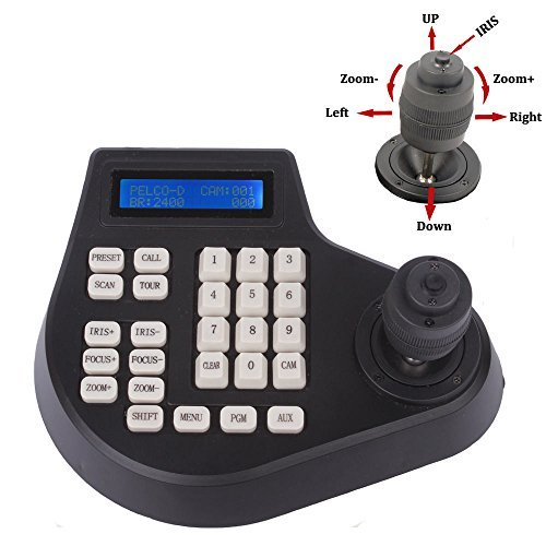 Efreecity® CCTV Joystick Keyboard Controller LCD Display for PTZ Speed Dome Camera Control (4D joystick - Joystick Camera