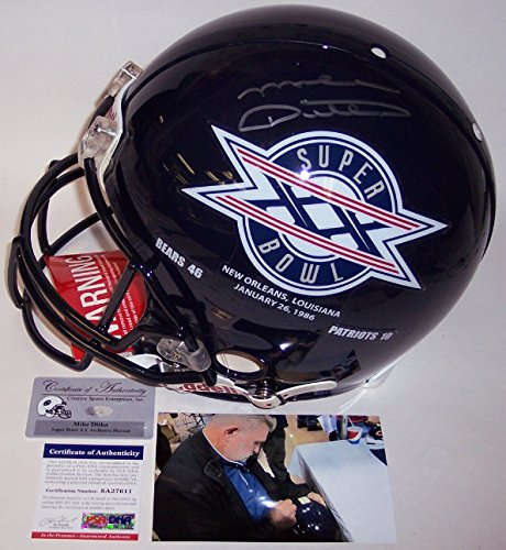 Signed Hand Bears (Mike Ditka Autographed Hand Signed Chicago Bears Super Bowl XX 20 Champs Full Size Authentic Pro Football Helmet - PSA/DNA)