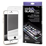 iPhone 6/6S intelliGLASS PRO EDGE-TO-EDGE (White/Gold) - The Smarter Glass Screen Protector by intelliARMOR To Guard Against Scratches and Drops. Ultra HD Clear, Max Touchscreen Accuracy.