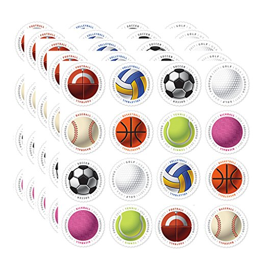 Have a Ball! 5 Sheets of 16 USPS First Class Postage Stamps Baseball Basketball Vollyball