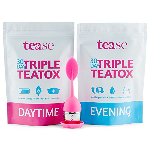 30 Day Triple Teatox Cleanse and Detox Kit by Tease Tea