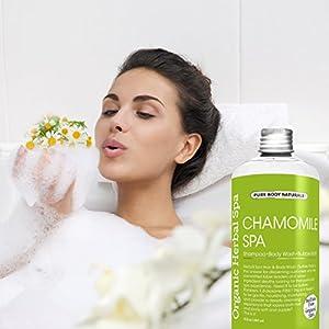Pure Body Naturals Organic Chamomile 3-in-1 Shampoo / Body Wash / Bubble Wash, 8 Fl. Oz.