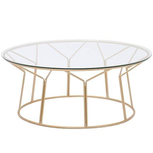 KUKU-mesas de centro Mesa de Centro de Cristal Transparente ...