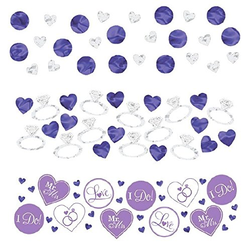 Adorable I Do and Ring Wedding Confetti Wedding or Bridal Shower Party Decoration, Value Pack, Lilac, 1.2 oz..