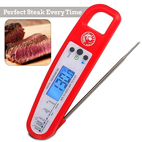 Food Thermometer, Beemoon Digital Meat Thermometer -- Instant Read (2-4s) For Grilling Cooking Food BBQ or Candy, Wireless Waterproof For Kitchen, Oven, Grill, Water, Beer, Milk, Bath Water Probe, Ste