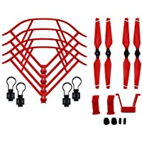BTG Part Kit for DJI Mavic Pro RC Drone: Propellers + Quick Release Propeller Guards + Landing Gear (Color: Red)