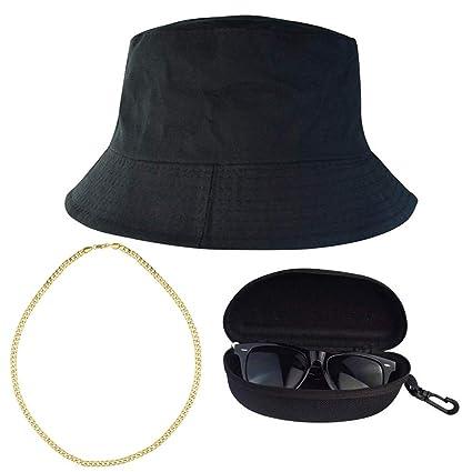 052097fdb6c Amazon.com  Miayon 3Pcs Hip Hop Costume Kits 80s 90s Cool Style Hip ...