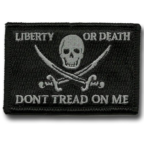 Calico Jack Tactical Patch - Black by Gadsden and - Patch Calico