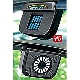 Gopani Solar Powered Car Window Cool Air Vent Auto Fan - Black