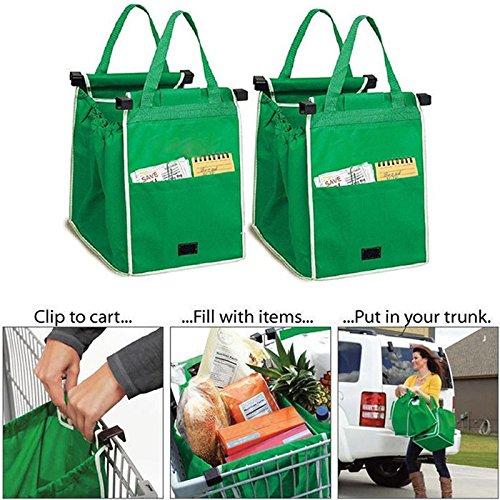 Shopping Bags - Shopping Bag -UK Shopping Bags Foldable Tote Handbag Reusable Trolley Clip To Cart Grocery Shopping Bags - Reusable Shopping - Christi Shopping Corpus
