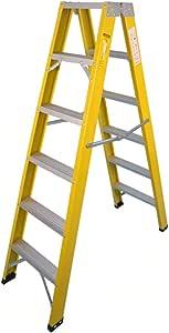 Casa Escalera de almacén, Escalera doble de seis lados Escalera metálica de cinco escalones Escalera plegable de tres pasos para el hogar Engrosado (Size : 52 * 125 * 171CM): Amazon.es: Bricolaje y herramientas