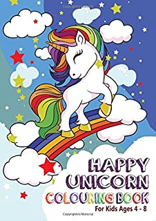 Unicorn Colouring Book: For Kids ages 4-8: Amazon.de: Silly Bear ...