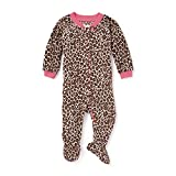 The Children's Place Printed Blanket Sleeper Pajamas, Parchment, 9-12 Months