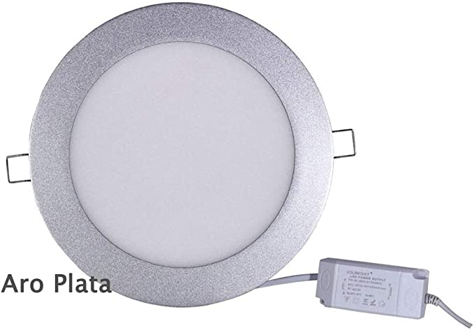 PACK 12 DOWNLIGHT LED 18W CIRCULAR ARO PLATA: Amazon.es: Iluminación