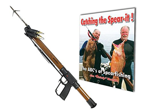 A.B. Biller Mahogany 36 Special Speargun Limited Edition Wood Speargun Diving Spearfishing with The ABC's of Spearfishing BOOK. - Mahogany Speargun