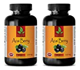 cleanse max ii - Energy Supplements for Men - ACAI Berry 1200 Mg - acai Max Detox - 2 Bottles (120 Capsules)