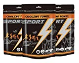 Cooling Sports Wipes - 100% Cotton Towel Cleansing Deodorizing, Full Body Wipes, Hypoallergenic, Refreshing Sport Workout Extra Large (3 Pack)