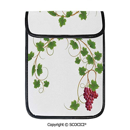 SCOCICI Simple Protective Curved Ivy Branch Deciduous Woody Wines Seed Clusters Cabernet Kitchen Pouch Bag Sleeve Case Cover for 12.9 inches Tablets