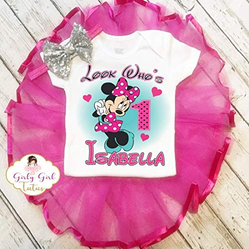 Minnie Mouse 1st Birthday Outfit Dress Set Party Outfit Girl