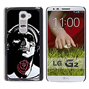 Ihec Tech Rose Auriculares Negro del cráneo de la música / Funda Case back Cover guard / for LG G2