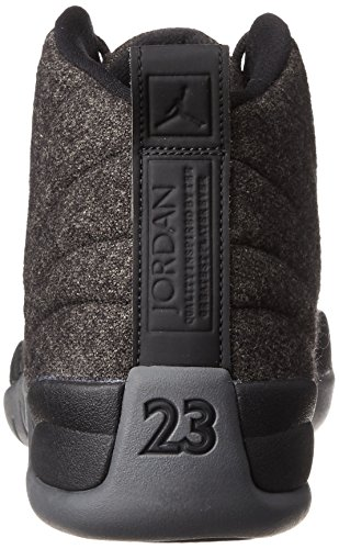 Mens Wool Metallic Dark Jordan Black Silver Grey Retro 12 7txwPnBqUa