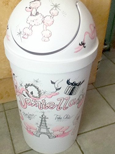 Hamper Paris Theme Handpainted and Personalized Laundry Basket (Personalized Laundry)