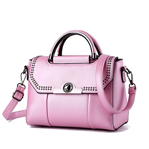 Meoaeo Bolso De Moda Coreana Mini All-Match Lady Hombro Claret Pink
