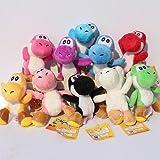 Super Mario Bros Yoshi Soft Plush Stuffed Animals Doll Kids Toys 10 pcs/set