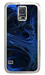 Samsung Galaxy S5 Blue Abstract Art Design PC Custom Samsung Galaxy S5 Case Cover Transparent