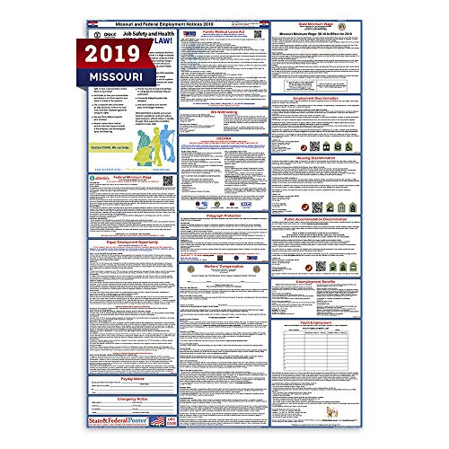 - 2019 Missouri State and Federal Labor Law Poster - Laminated 27