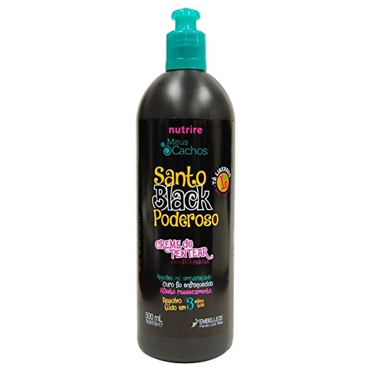 Amazon.com: Novex Santo Black Poderoso Creme De Pentear Condicionante 16.9 oz: Beauty