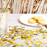 Gold and Silver Metallic Confetti Circle Dots for