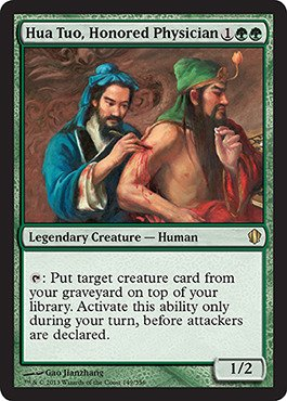 Magic The Gathering - Hua Tuo, Honored Physician (149/356) - Commander 2013 from Magic The Gathering