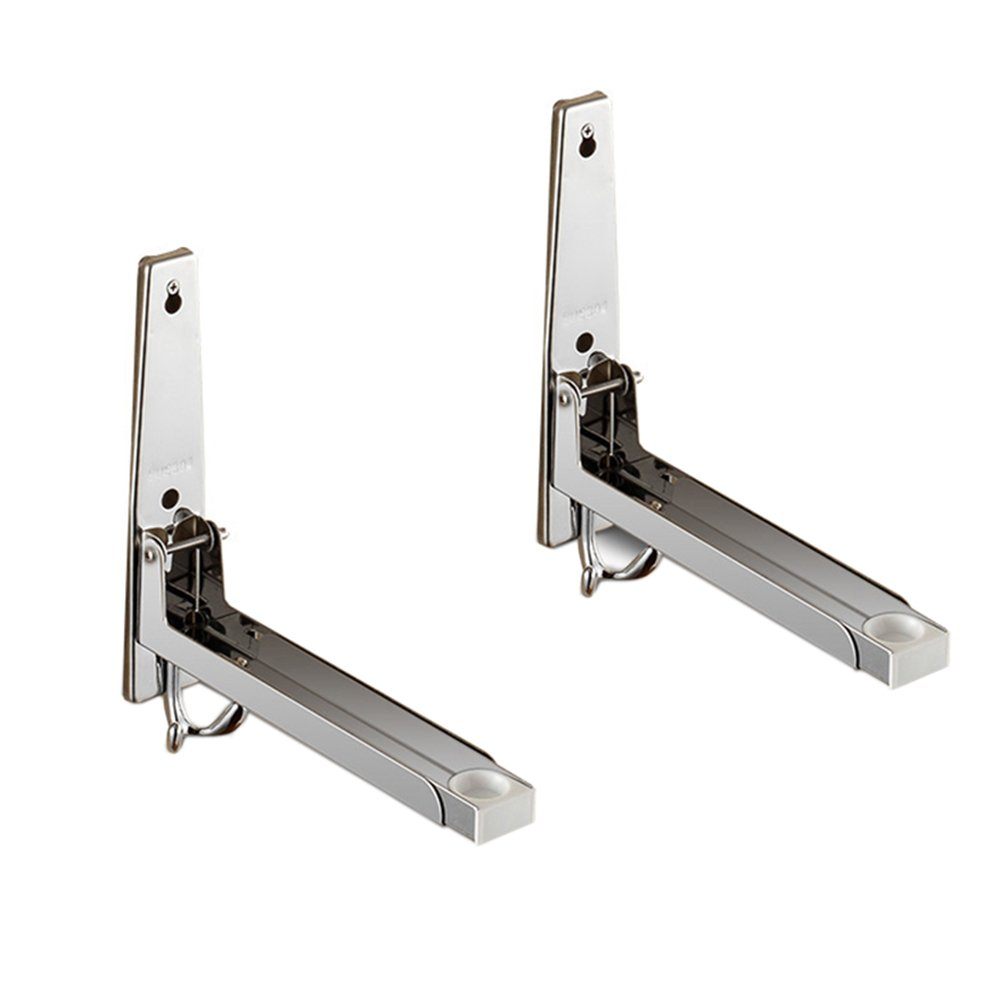 Kxtffeect 304 Stainless Steel Foldable Stretch Microwave Oven Wall Mount Bracket, Shelf Rack Oven Wall Mount Bracket Load 130lb