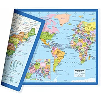 Amazon kappa united states wall map usa poster homeschool classic united states usa and world desk map 2 sided print 2 sided sealed lamination small poster size 115 x 175 inches 1 desk map gumiabroncs Image collections