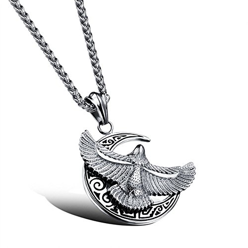 Gorgeous Jewelry Great Hawk Spread Wing Tercel Stainless Steel Individuality Pendant Necklaces