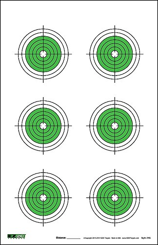 25, 50, 75 Yard Rifle Green Targets (25 Pack) by EZ2C | Long Range Shooting Paper Targets | Bullseye Target Style | High Visibility Firearms, Pistol, Airsoft and BB Gun Targets 11