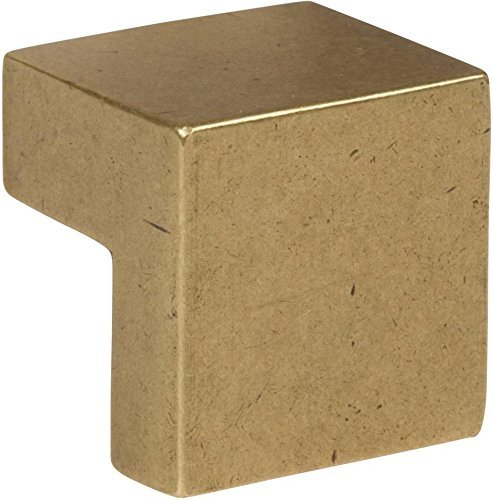 Atlas Homewares A865-UB Successi Collection 0.98 Inch Small Square Knob, Vintage Brass Finish