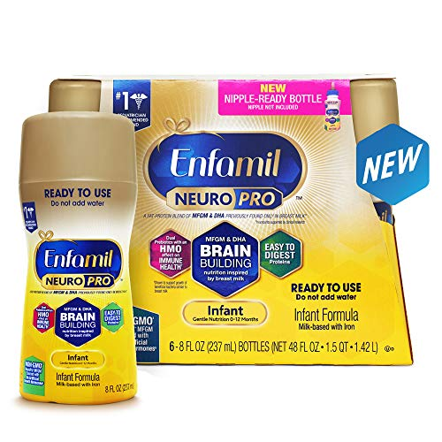 Enfamil Infant Formula, Ready to Use, 8 Fluid Ounce Bottles,