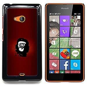 """Qstar Arte & diseño plástico duro Fundas Cover Cubre Hard Case Cover para Nokia Lumia 540 (Cara rebelde Che Troll - Funny Lol Meme"""")"""