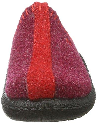 Romika Unisex-Kinder Mokasso 62 Pantoffeln Rot (Rot-Kombi 401 401)