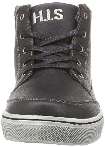 H.I.S. HIS - zapatillas deportivas altas de material sintético hombre negro - negro