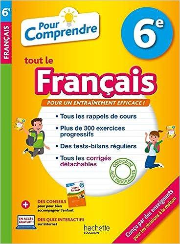 Amazon Fr Pour Comprendre Francais 6e Isabelle De Lisle