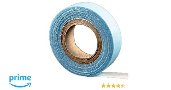 cinta de peluquería Azul de doble cara – extra fuerte para extensiones de pelo de trama de piel hechas por uno mismo – aguantan 3 meses.: Amazon.es: Hogar