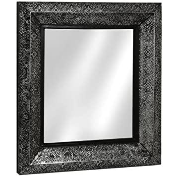 Super Marrakesh Black And Silver Metal Embossed Wall Mirror Full Range Of Matching Furniture Is Available For Bedroom Living Room Kitchen Dining Room Download Free Architecture Designs Scobabritishbridgeorg